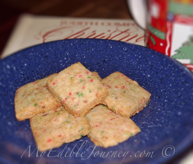 Candy Cane Shortbread Squares ~ My Edible Journey