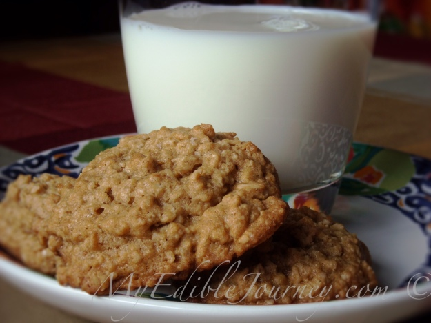 Ginger Oatmeal Cookies ~ My Edible Journey