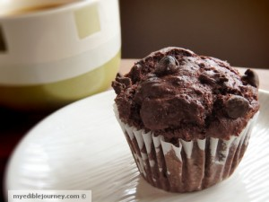 Double Chocolate Muffins ~ My Edible Journey