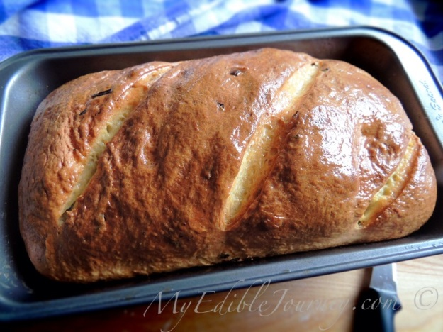 Butter Brushed Chive Bread from My Edible Journey via Mama_B