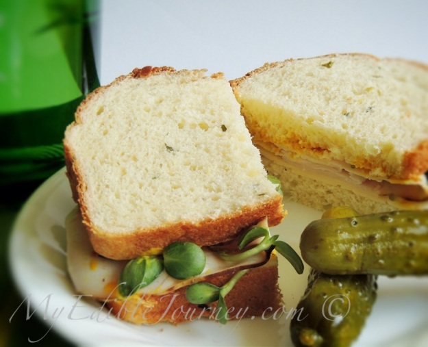 Chive Bread Sandwich from My Edible Journey via @Mama_B
