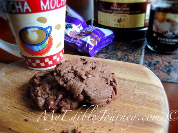 Mocha Chip Cookies ~ My Edible Journey