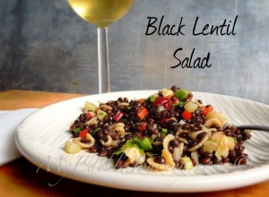 Black Lentil Salad ~My Edible Journey