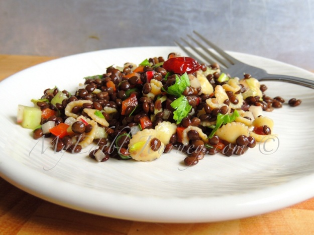 Black Lentil Salad ~ My Edible Journey