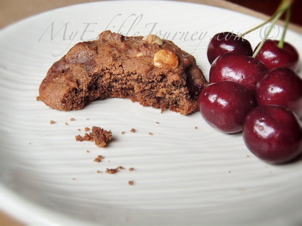 Double Chocolate Cherry Chip Cookies  My Edible Journey