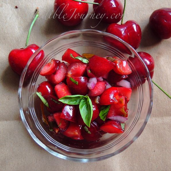 Cherry Basil Salsa |My Edible Journey