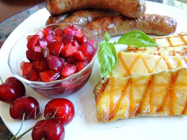 Cherry Basil Salsa |My Edible Journey