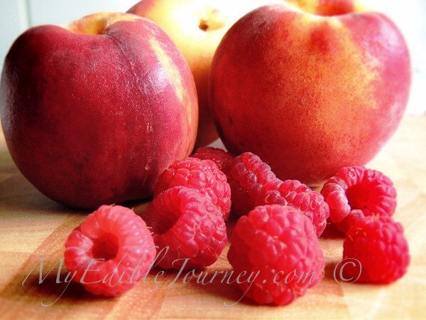 Peaches and Raspberries |My Edible Journey