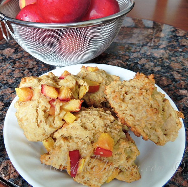 Nectarine Scones | My Edible Journey
