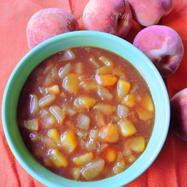 Spiced Peach Sauce | My Edible Journey