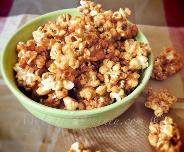 Salted Caramel Corn |My Edible Journey