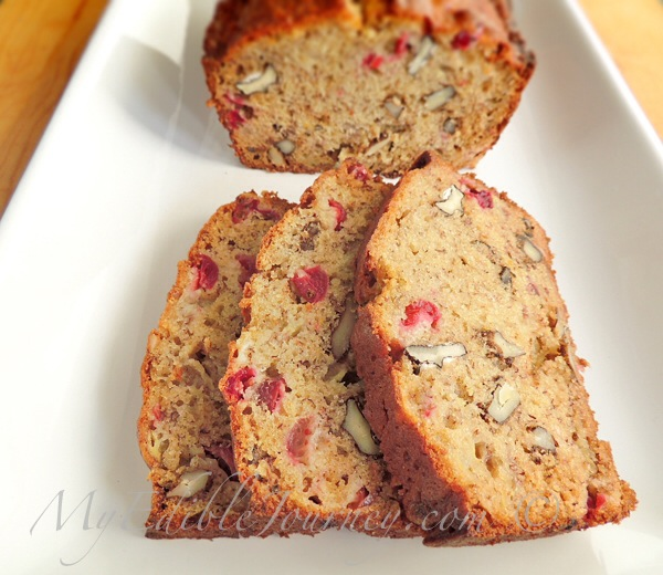 Cranberry Banana Nut Bread | My Edible Journey