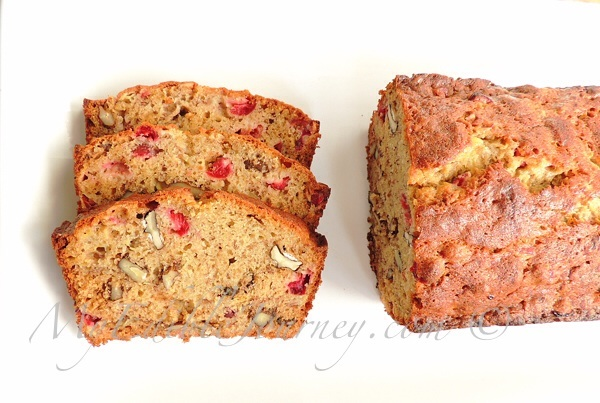 Cranberry Banana Nut Loaf | My Edible Journey