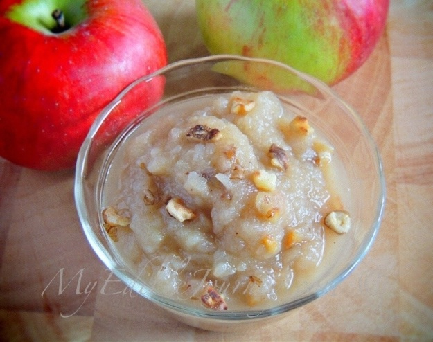 Brown Butter Applesauce with Walnuts | My Edible Journey