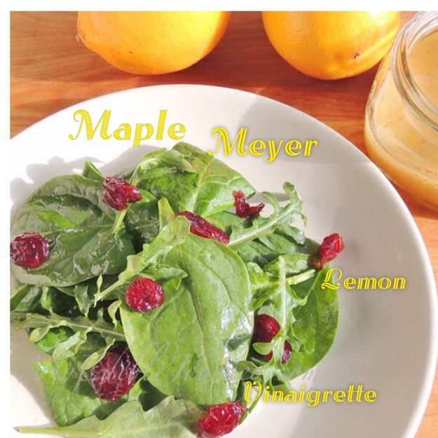 Salad with Maple Meyer Lemon Vinaigrette | My Edible Journey