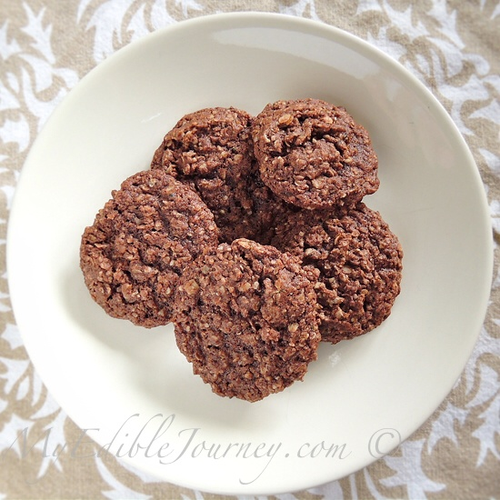 Healthy Cocoa Oatmeal Cookies   My Edible Journey