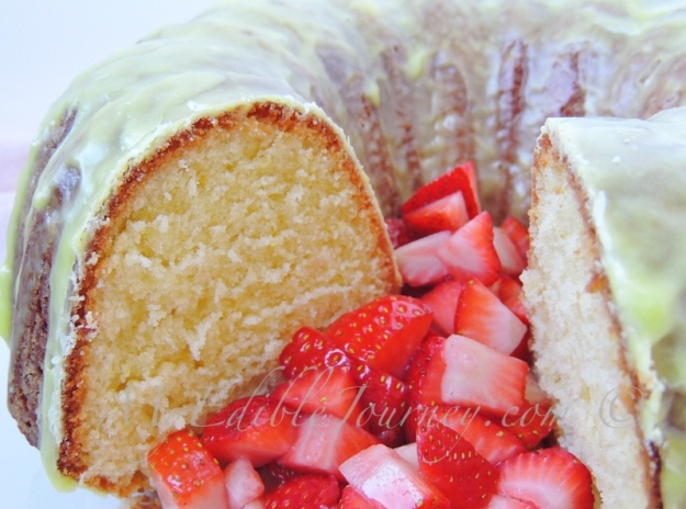 Lemon Bundt Cake with Strawberries | My Edible Journey