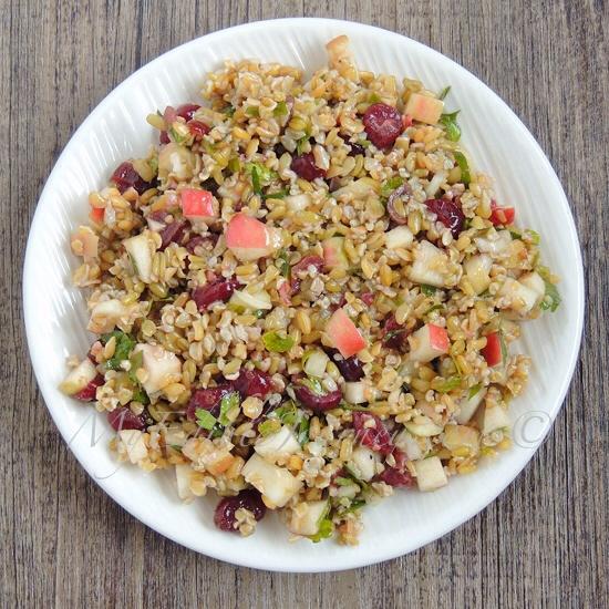 Whole Grain Apple Salad | My Edible Journey
