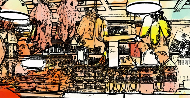 Playing with a photo from St. Lawrence Market